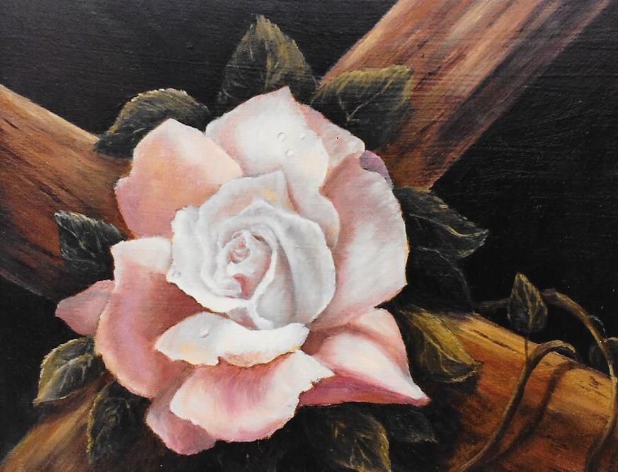 Love Crucified A Rose
